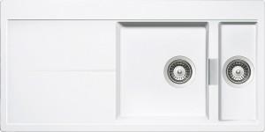 Lavello 2 vasche + gocciolatoio SCHOCK Horizont D150 A99 HOND150A99 ( BIANCO PURO )
