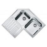 Lavello da Incasso 2 Vasche + Gocciolatoio Inox Franke STX 621-E Angolo 101.0001.045
