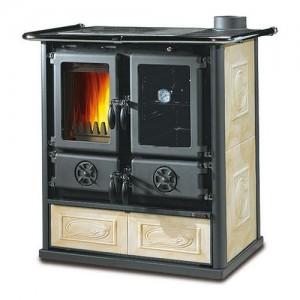 Nordica ROSETTA BII Cucina a legna libera installazione con rivestimen