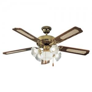 Perenz 7066-OL Ventilatore da soffitto a 5 pale, diametro 130 cm,