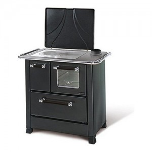 Cucina legna Nordica ROMANTICA 3,5 Dx antracite larghezza 87cm