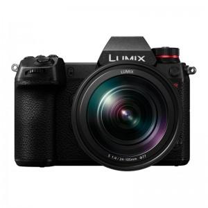 Fotocamera Digitale Full-Frame Panasonic Lumix S1R + S 24-105mm F4 MACRO O.I.S. MILC 47,3 MP CMOS 6000 x 4000 Pixel Nero
