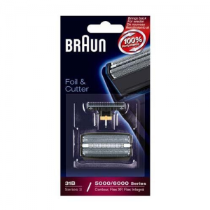 Braun COMBI 31B Nera Ricambio Lamina e blocco coltelli per rasoio Braun