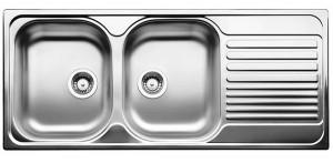 Lavello da Incasso 2 Vasche + Gocciolatoio Blanco TIPO 8 S Compact Vasca Sx 1324951