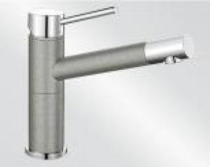Miscelatore da Incasso Blanco ALTA Compact Grigio Perla / Cromato 1520729 - 520729