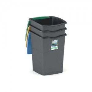 Kis 6713422 Set 3 pattumiere recycling 50 Lt cm 38x37xh53