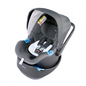 Autoseggiolone Chicco Oasys Up Bebécare Cool Grey Omologato 00 - 13 kg Gruppo 0+ Attacco Cintura 00.79132.190