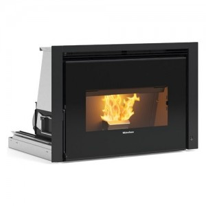 Extraflame COMFORT P85 Porta fuoco in ghisa con vetro panoramico, grande