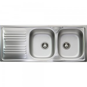 Lavello da Incasso 2 Vasche + Gocciolatoio Apell TM1162ILPC ATMOSFERA