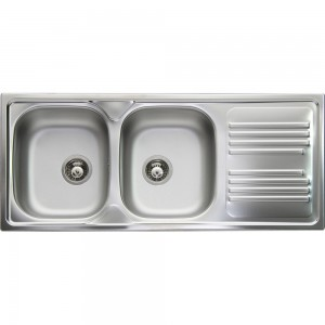 Lavello da Incasso 2 Vasche + Gocciolatoio Apell TM1162IRPC ATMOSFERA