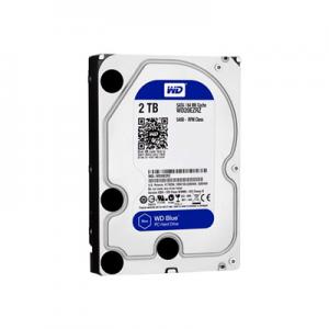 Hard Disk Interno Blu Desktop da 2 TB, 5400 RPM, SATA 6 GB/s, 64 MB WD Western Digital WD20EZRZ