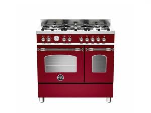 Cucina Libera Installazione 90 Cm 5 Fuochi con Forno Elettrico Doppio Serie Heritage Vino Bertazzoni HER905MFEDVIE