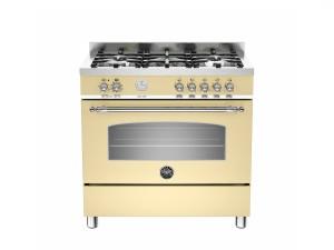 Cucina Libera Installazione 90 Cm 5 Fuochi con Forno Elettrico Serie Heritage Crema Bertazzoni HER905MFESCRE