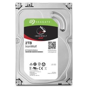 Hard disk Interno Seagate 2 TB SATA-6Gb 5900rpm 64MB. 24x7. IronWolf ST2000VN004