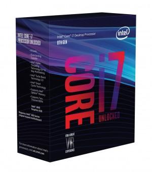 CPU BX80684I78700K Intel Core (R) TM i7-8700K (12M Cache, up to 4.70 GHz) 3.7GHz 12MB Cache intelligente - Box