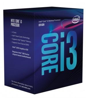 CPU Intel Core i3-8100 (6M Cache, 3.60 GHz) 3.6GHz 6MB Cache intelligente - BX80684I38100