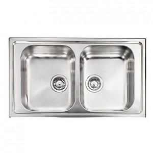 Lavello Inox CRISTAL 3 86x50 2 Vasche Reversibile CM 010014 RCSSP
