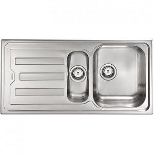 Lavello Inox CRISTAL 3 100x50 2 Vasche a Destra CM 010015 DCSSP