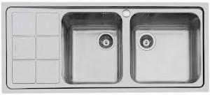 Lavello 2 Vasche + Gocciolatoio FOSTER S3000 1318 061 DX