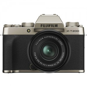Fotocamera Mirrorless Fujifilm X-T200 + 15-45mm (Champagne Gold)