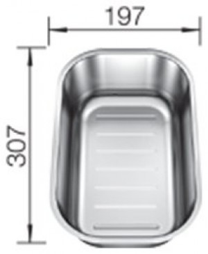 Vaschetta forata in Acciaio Inox Blanco 1235236