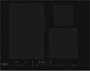 Piano Cottura Da incasso 4 Fuochi Induzione Nero Hotpoint Ariston ACOH 654 MF/NE