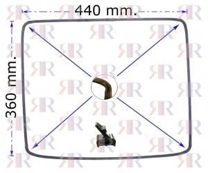 Guarnizione Forno 4 Lati 4 Lunette 440x360 Tipi Vari