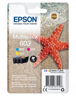 Toner Multipack C13T03U54010 Epson 3-Colori 603 Ink