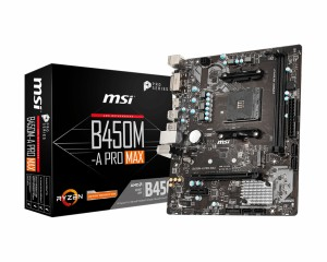 Scheda Madre 7C52-001R MSI B450M-A PRO MAX AM4 Micro ATX AMD B450