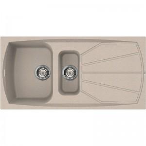 Lavello 100x50cm 2 Vasche + Gocciolatoio Reversibile Avena Granitek Elleci LIVING 475 LGL47551