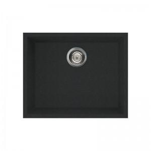 Lavello 54x44cm 1 Vasca Sottotop Full Black Granitek Elleci  QUADRA 105 Sottotop LGQ10540BSO