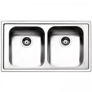 Lavello da Incasso 2 Vasche Apell LN862IMC LINEAR