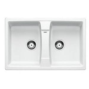 Lavello da Incasso 2 Vasche Blanco Zia 8 Bianco 1524694