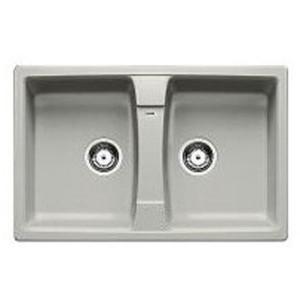 Lavello da Incasso 2 Vasche Blanco SONA 8 Grigio Perla 1530561