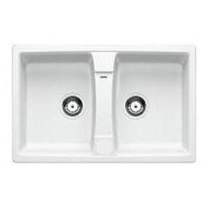 Lavello da Incasso 2 Vasche Blanco SONA 8 Bianco 1534694