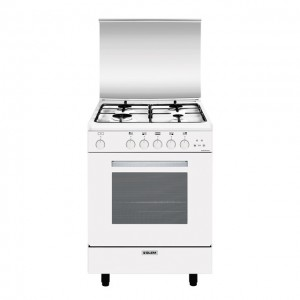 Glem Gas Cucina con Forno Gas + Grill Elettrico + Ventola A654VX