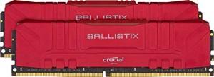 Memoria Ram Crucial Ballistix BL2K16G30C15U4R 3000 MHz, DDR4, DRAM, 32 GB (16 GB x2), CL15, Rosso