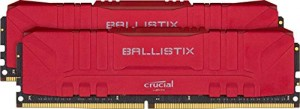 Memoria Ram Crucial Ballistix BL2K8G30C15U4R 3000 MHz, DDR4, DRAM, 16 GB (8 GB x2), CL15, Rosso