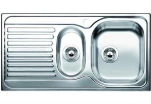 Lavello da Incasso 2 Vasche + Gocciolatoio Blanco TIPO 6 SB Vasca Dx 1316495