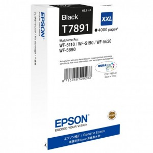Cartuccia d'inchiostro Epson Originale C13T789140 T7891 Nero XXL
