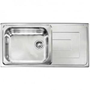 Lavello da Incasso 1 Vasca + Gocciolatoio Reversibile Como Inox CM 010146 RCSSP