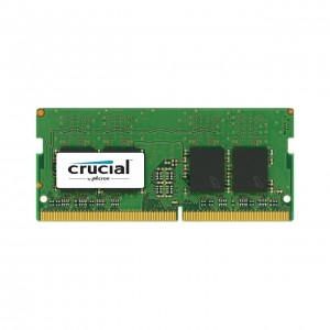 Memoria Ram Crucial CT16G4SFD824A da 16 GB, DDR4, 2400 MT/s, PC4-19200, Dual Rank x8, SODIMM, 260-Pin