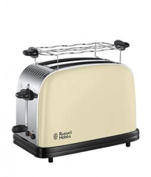 Russell HobbsTostapane Colours Classic Cream 23334-56 Acciaio Inox Ampie Fessure Funzione Defrost 1100 Watt