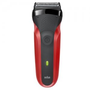 BRAUN300S Rasoio Elettrico Colore Rosso