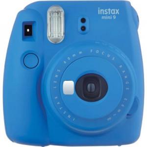 Fujifilm Instax Mini 9 + 10 Shots Fotocamera Istantanea per Stampe Formato 62X46 mm, Cobalt Blue