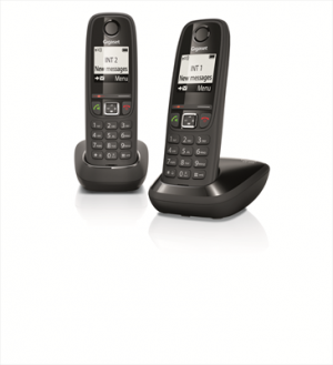 "GigasetAS405 Cordless Duo Display 1,8"" Vivavoce - Nero"