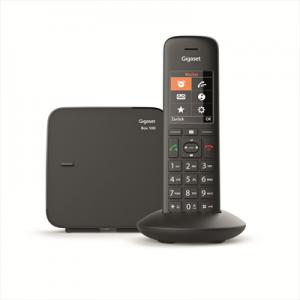 GigasetTelefono Cordless C570 DECT con Vivavoce 200 Numeri Colore Nero - Italia