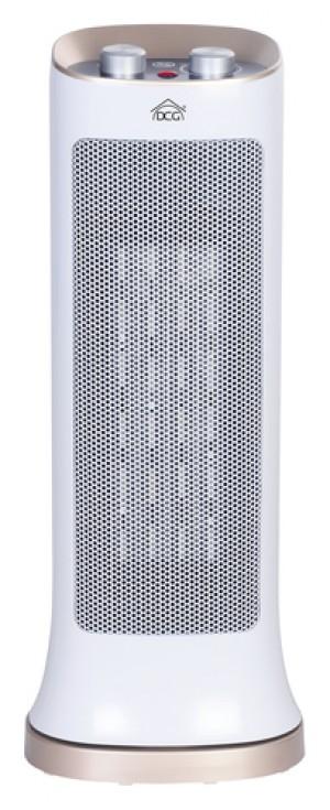 DCGTermoventilatore ceramico Ptc5159 Oscillante, 240/2000 Watt, 3 Gradi Di Calore, Termostato Rego