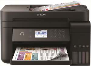EPSONStampante Multifunzione EcoTank ET-3750 Inkjet a Colori Stampa Copia Scansione 33 ppm (B / N) 20 ppm (a Colori) Wi-Fi Ethernet USB