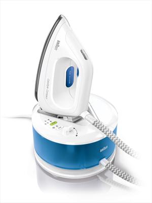 BRAUNIS 2043 Ferro da Stiro CareStyle Compact con Caldaia Continua Potenza 2200 Watt Colore Blu / Bianco